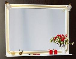 Фото - Зеркало 97,1х88,4 см белый золотая патина Sanflor Каир H0000000205 зеркало 117 1х88 4 см белый золотая патина sanflor каир h0000000208
