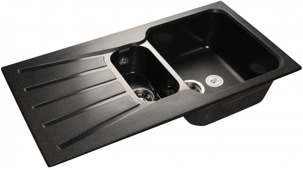 Фото - Кухонная мойка черный GranFest Standart GF-S940KL кухонная мойка granfest standart gf s940kl розовый