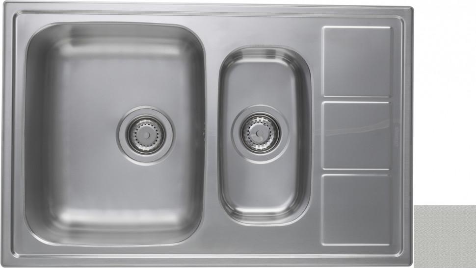 Кухонная мойка декоративная сталь Longran Lotus LTL780.500 15XT8P longran lotus 945 w lin 945x510