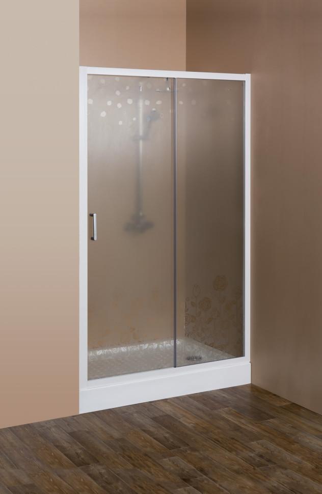 Душевая дверь раздвижная Cezares Rosa 120 см ROSA-BF-1-120-RO-Bi цена