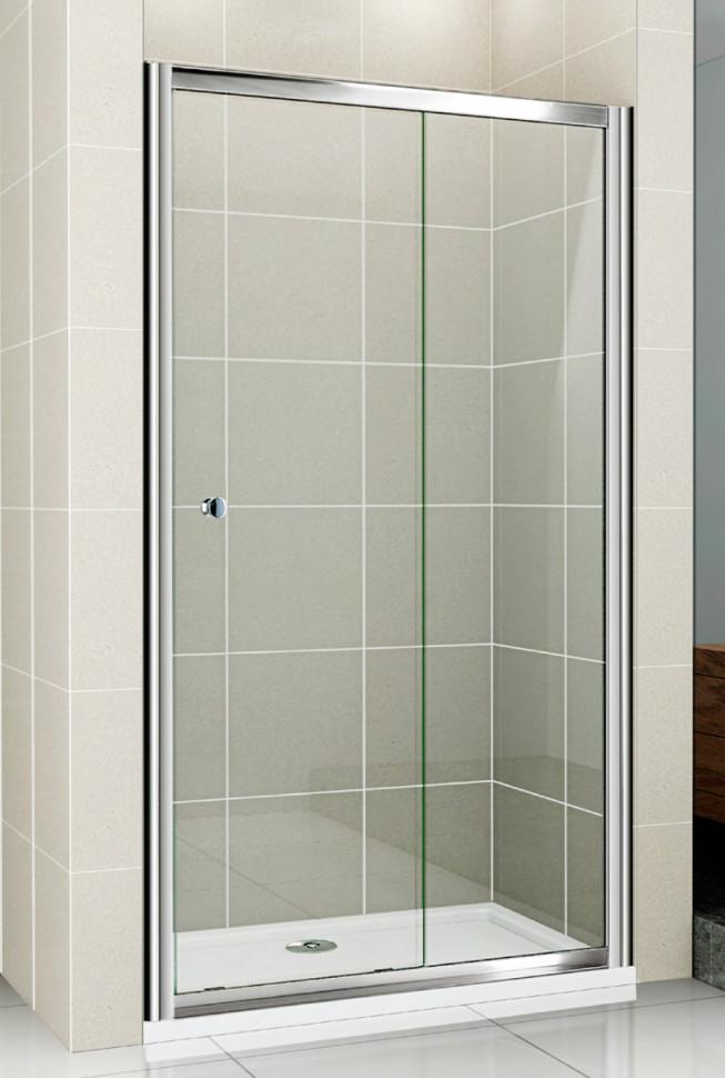 Душевая дверь раздвижная Cezares Pratico 140 см прозрачное стекло PRATICO-BF-1-140-C-Cr