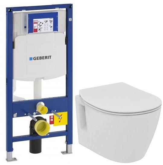 Комплект подвесной унитаз Ideal Standard Connect Space E804601 + E772401 + система инсталляции Geberit 111.300.00.5