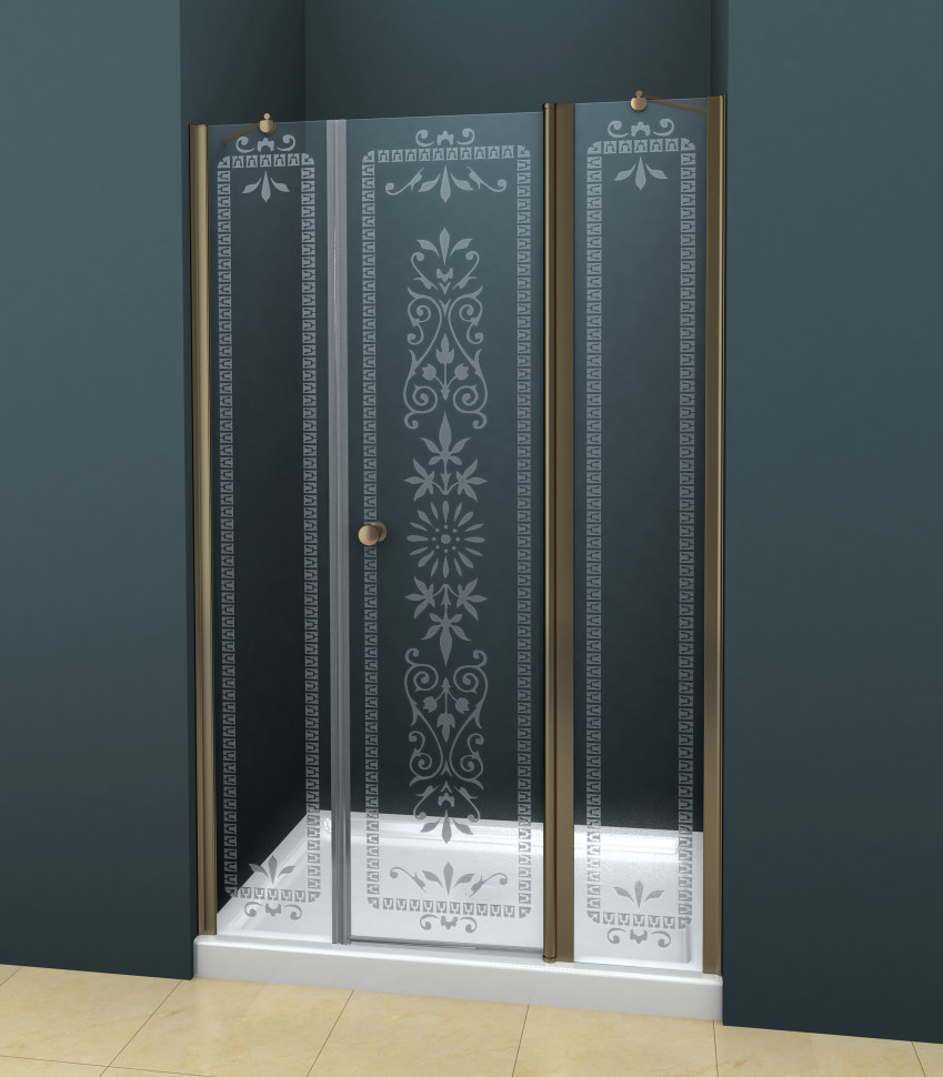 Душевая дверь распашная Cezares Royal Palace 195 см прозрачное с матовым узором ROYAL PALACE-A-B-13-100+60/40-CP-Br смирнова е войлочные звери сухое валяние из шерсти
