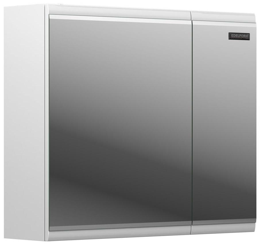 зеркальный шкаф edelform уника 100 белый с дуб гальяно 2 741 45 s Зеркальный шкаф белый глянец 71,2х61 см Edelform Forte 2-766-00-S