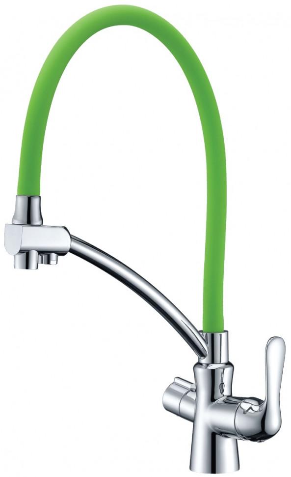 Смеситель для кухни с подключением к фильтру Lemark Comfort LM3070C-Green смеситель для кухни с подключением к фильтру lemark villa lm4861b