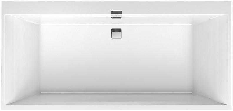 Квариловая ванна 190х90 см альпийский белый Villeroy & Boch Squaro Edge 12 UBQ190SQE2DV-01