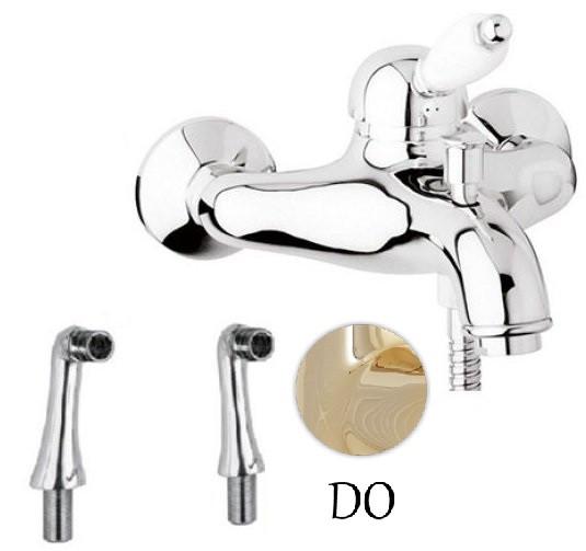 цены Смеситель на борт ванны золото 24 карат, ручка металл Cezares Elite ELITE-PBVM-03/24-M