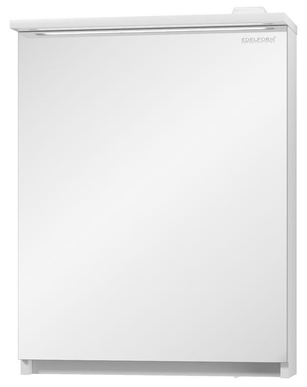 Зеркальный шкаф белый глянец 55,2х71,1 см Edelform Amata 2-782-00-S фото