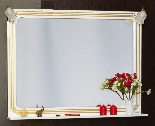 Фото - Зеркало 117,1х88,4 см белый золотая патина Sanflor Каир H0000000208 зеркало 117 1х88 4 см белый золотая патина sanflor каир h0000000208