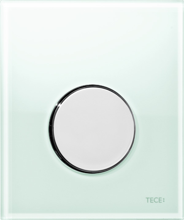 Смывная клавиша для писсуара TECE TECEloop мятный зеленый/глянцевый хром 9242653 смывная клавиша для писсуара tece teceloop мятный зеленый белый 9242651