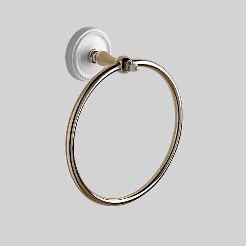 Кольцо для полотенец светлое золото/белый Devon&Devon Dorothy DOR407OT ёршик светлое золото белый devon