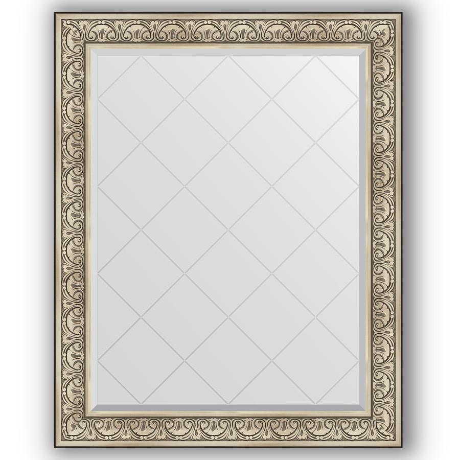 Зеркало 100х125 см барокко серебро Evoform Exclusive-G BY 4381