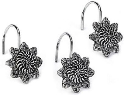 все цены на Набор из 12 крючков для шторки Avanti Braided Medallion Silver 11166G-SLV онлайн
