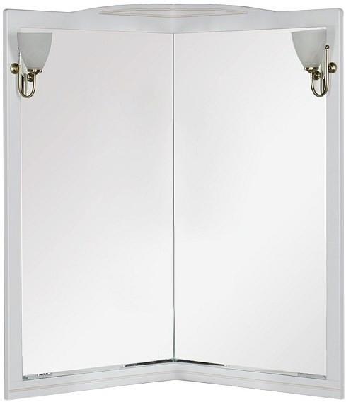Зеркало угловое 70х105 см белый Aquanet Луис 00171916 зеркало 80х112 см белый aquanet луис 00173217