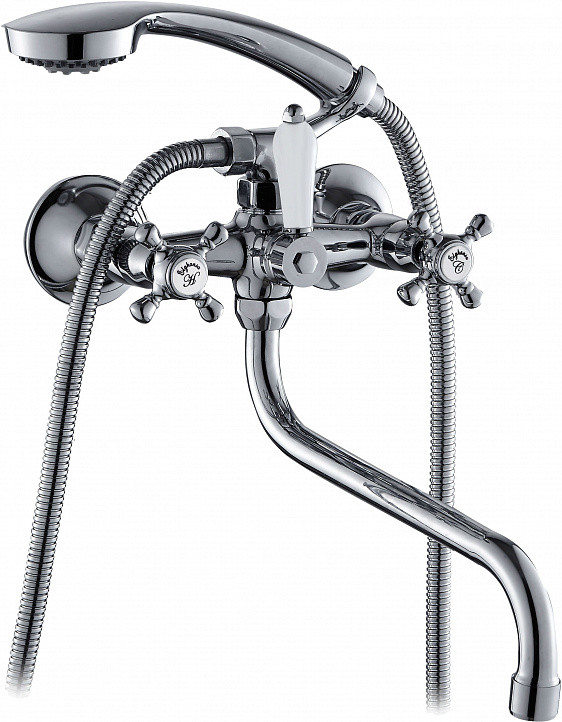 Смеситель для ванны Elghansa Kimberli 2730063 2720163 смеситель kimberli 2720163 двухвентильный для ванной хром elghansa