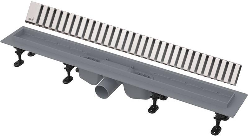 Душевой канал 844 мм глянцевый хром AlcaPlast APZ12 Line APZ12-850 + LINE-850L фото