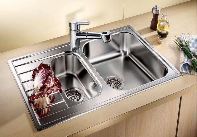 Кухонная мойка Blanco Livit 6S Compact Полированная сталь 515117 цена в Москве и Питере