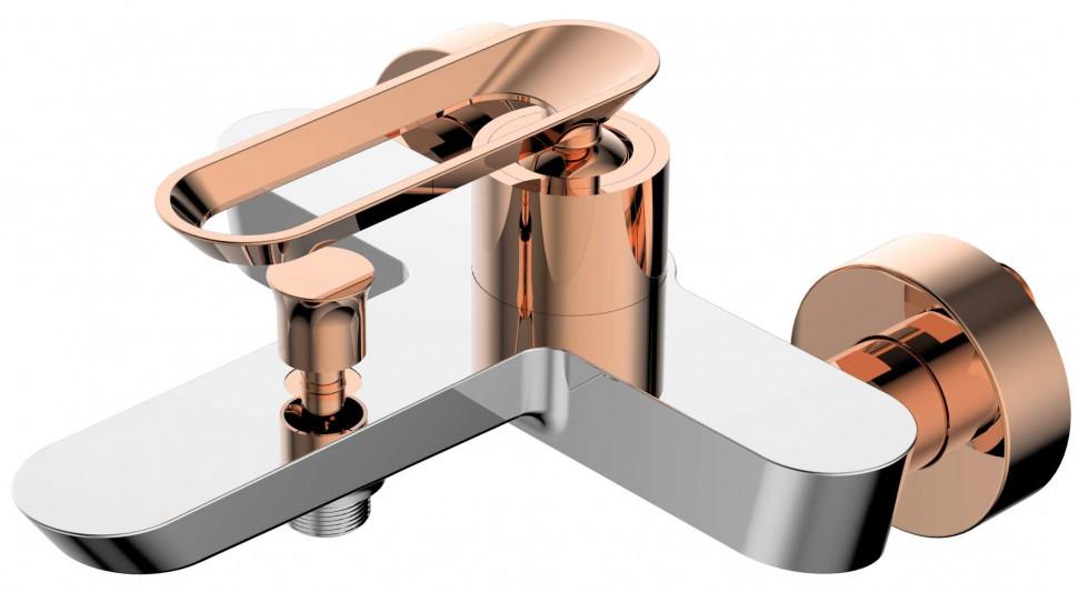 Фото - Смеситель для ванны хром/розовое золото Bien Hermes BB01009405 смеситель для кухни bien hermes be11009408 хром розовое золото