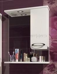 Зеркальный шкаф 60х72 см белый глянец Санта Афины 600014 стоимость авиабилета москва афины