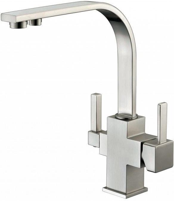 Смеситель для кухни с подключением к фильтру Zorg Sanitary ZR 332 YF NICKEL