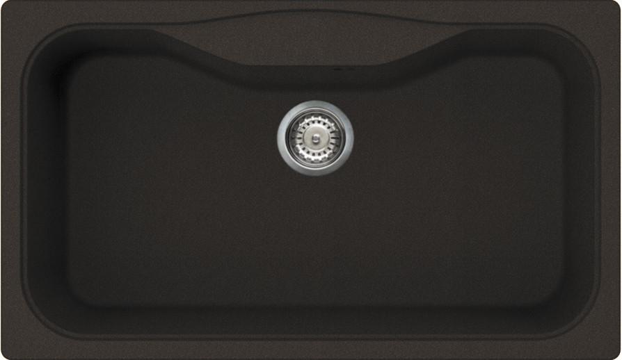 Кухонная мойка темный шоколад Tetogranit Omoikiri Maru 86-DC