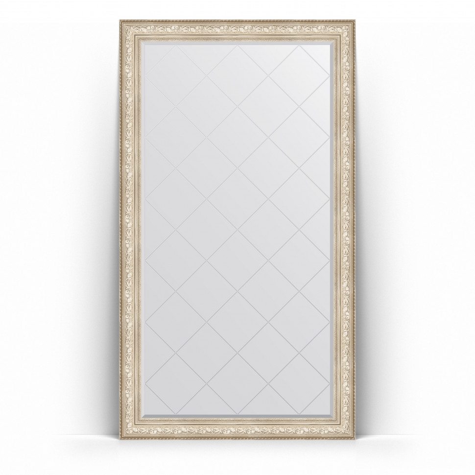 Фото - Зеркало напольное 115х205 см виньетка серебро Evoform Exclusive-G Floor BY 6376 зеркало напольное с фацетом evoform exclusive floor 115x205 см в багетной раме виньетка серебро 109 мм by 6176