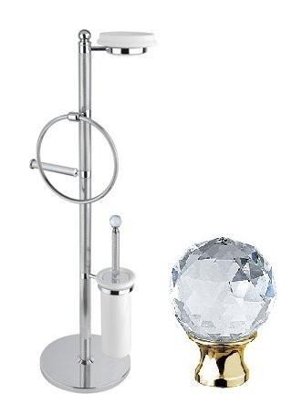 Комплект для туалета золото 24 карат, swarovski Cezares Olimp OLIMP-WBS-03/24-Sw