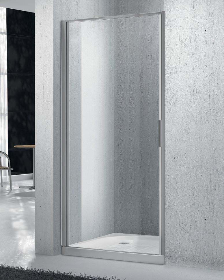 Душевая дверь 95 см BelBagno SELA-B-1-95-Ch-Cr текстурное стекло