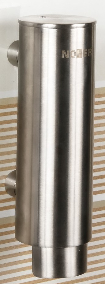 Диспенсер для мыла 300 мл матовый хром Nofer Inox 03024.S диспенсер для мыла axentia nero 131056 черный 300 мл