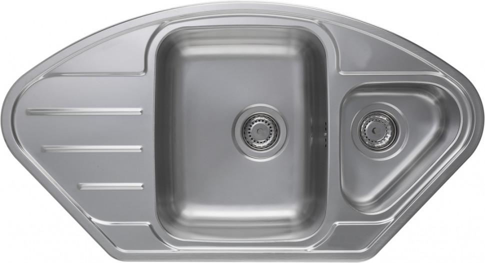 Кухонная мойка полированная сталь Longran Lotus LTP945.510 15XT8P 2C longran lotus 945 w lin 945x510