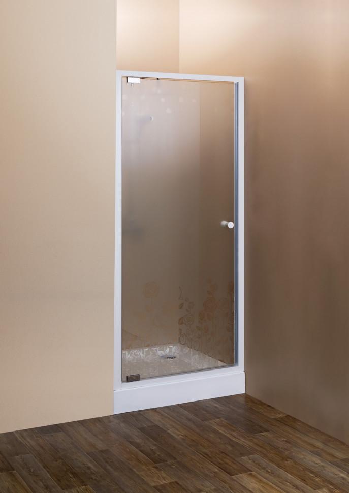 Душевая дверь распашная Cezares Rosa 80 см ROSA-BA-1-80-RO-Bi душевая дверь в нишу cezares rosa rosa ba 1 60 ro bi