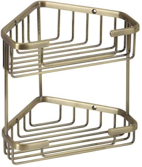Полка угловая 18,5х18,5 см Veragio Baskets Bronzo VR.GFT-9053.BR полка угловая 22х22 см veragio baskets bronzo vr gft 9055 br
