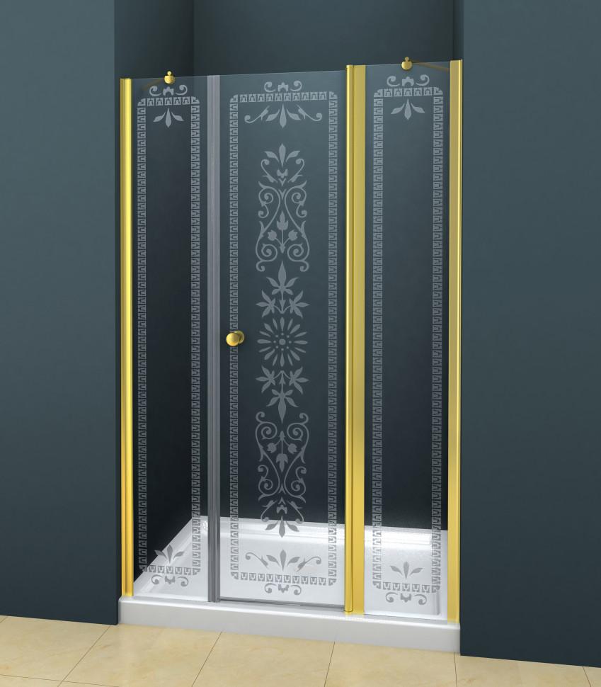 Душевая дверь распашная Cezares Royal Palace 195 см прозрачное с матовым узором ROYAL PALACE-A-B-13-100+60/40-CP-G душевая дверь распашная cezares royal palace 100 см прозрачное с матовым узором royal palace a b 12 60 40 cp g