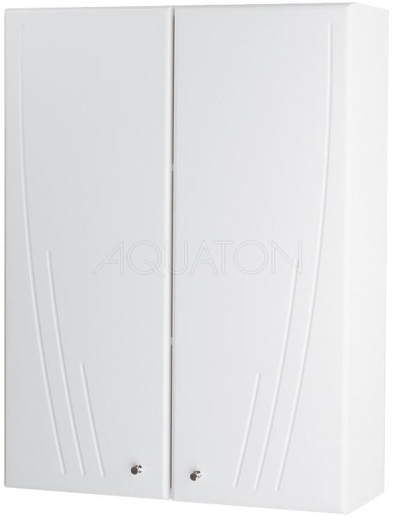 Шкаф двустворчатый подвесной 61х81,8 см белый глянец Акватон Минима 1A001703MN010 фото