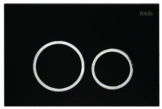 Смывная клавиша черный матовый для двойного смыва IDDIS Unifix UNI51MBI77 клавиша смыва универсальная матовый черный iddis unifix uni31mbi77