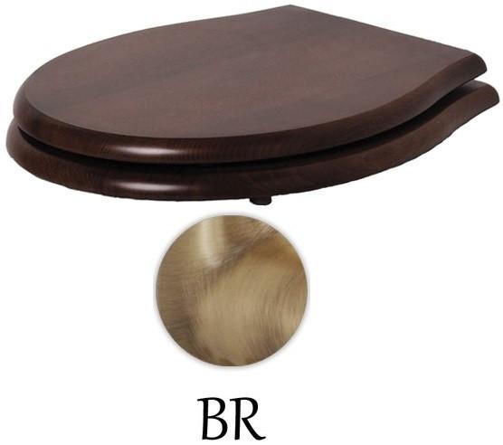 Сиденье для унитаза с микролифтом орех/бронза Azzurra Giunone-Jubilaeum 1800NM noce/br сиденье для унитаза с микролифтом орех бронза artceram hermitage hea004 72 noce br