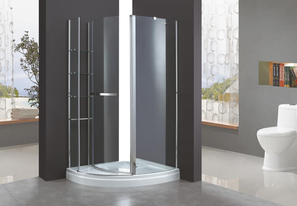 Душевой уголок Cezares Elena 120x90 см текстурное стекло ELENA-W-RH-1-120/90-P-Cr-R