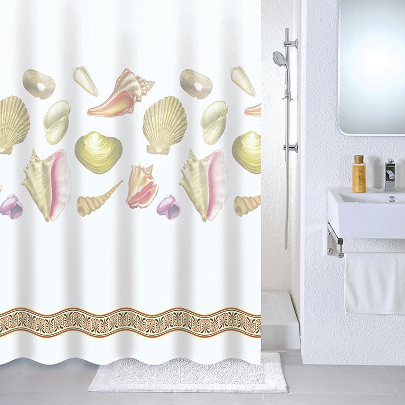 Штора для ванной комнаты Milardo Beach 531V180M11 штора для ванной dolphins milardo 180 180см