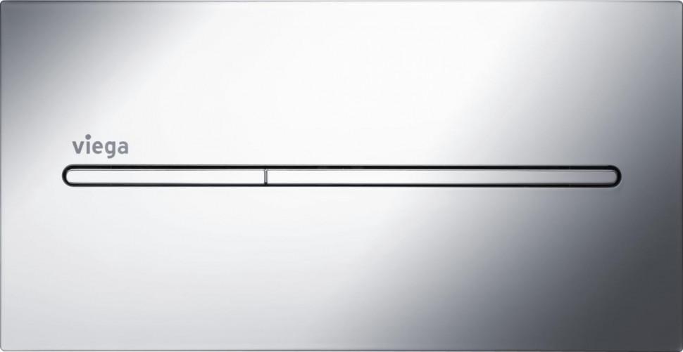Смывная клавиша модель 8354.1 Viega Visign for More 104 глянцевый хром 598457 смывная клавиша двухрежимная глянцевый хром vitra loop r 740 0680