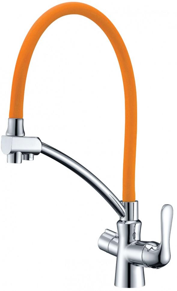 Смеситель для кухни с подключением к фильтру Lemark Comfort LM3070C-Orange смеситель для кухни с подключением к фильтру lemark villa lm4861b
