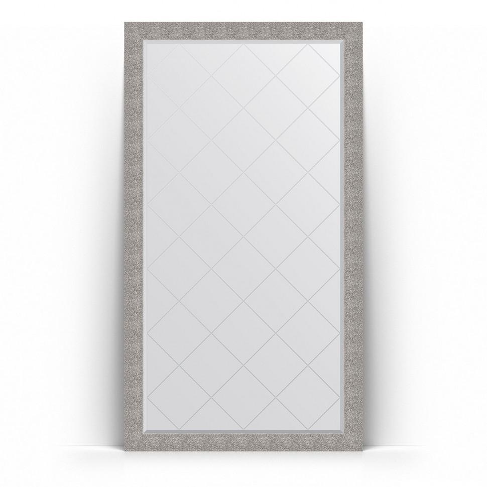 Фото - Зеркало напольное 111х201 см чеканка серебряная Evoform Exclusive-G Floor BY 6386 зеркало напольное 111х201 см чеканка золотая evoform definite floor by 6020