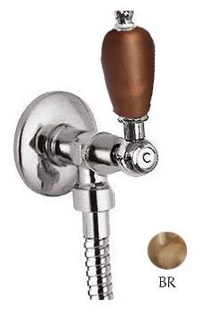 Запорный вентиль бронза, ручка орех Cezares First FIRST-VL-02-Nc