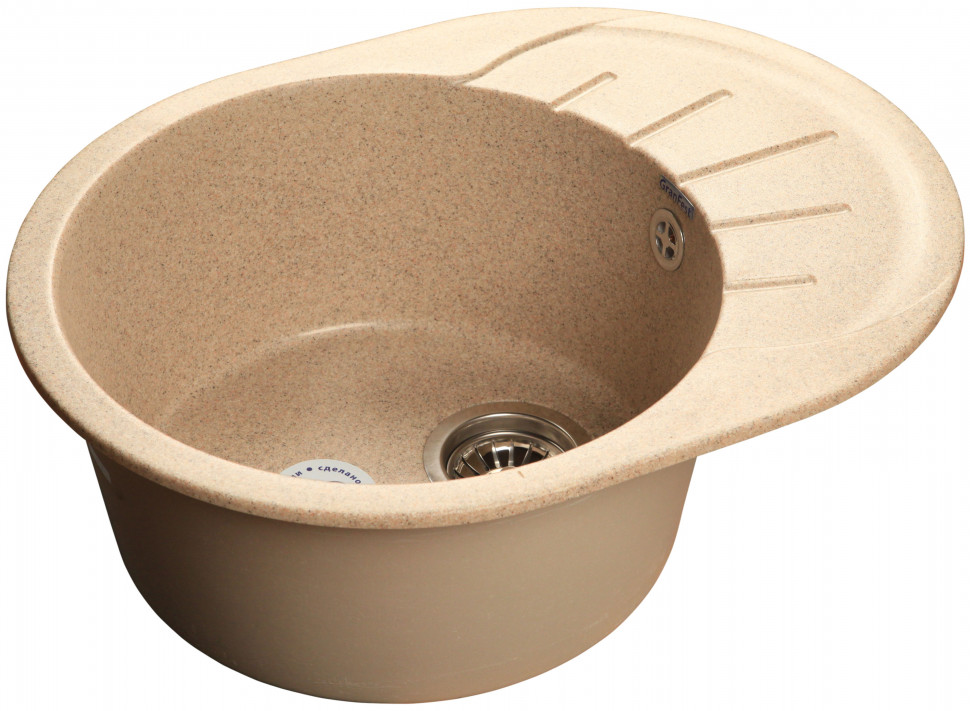 Кухонная мойка песочный GranFest Rondo GF-R580L цена