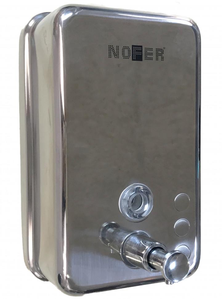 Диспенсер для мыла 1200 мл хром Nofer Inox 03041.B диспенсер для мыла axentia graz eckig квадрат 131077 черный 275 мл