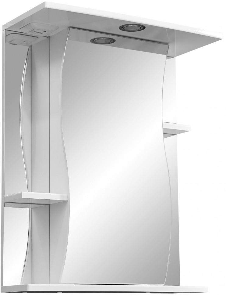 Зеркальный шкаф 55х70 см белый глянец/белый матовый R Stella Polar Лолита SP-00000042 лолита лолита анатомия