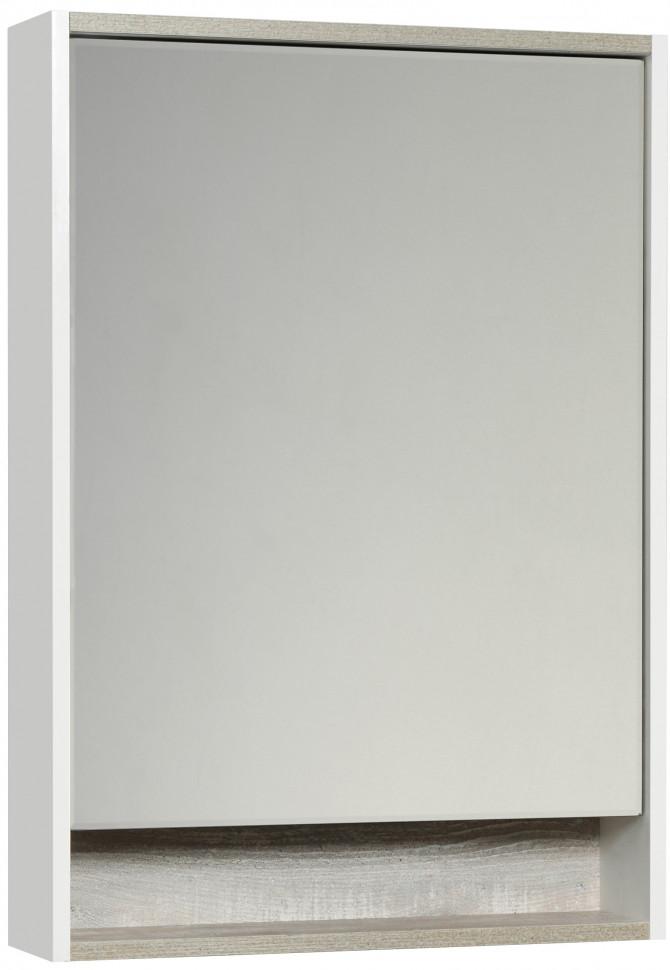 Фото - Зеркальный шкаф белый глянец/бетон пайн 60х85 см Акватон Капри 1A230302KPDA0 зеркало 60х85 см акватон лиана 1a162602ll010