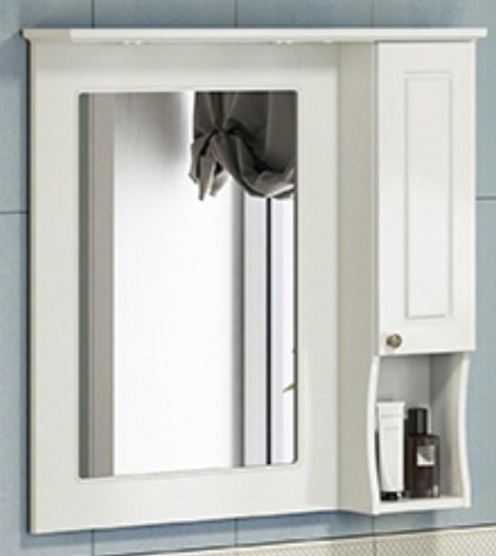 Зеркальный шкаф 79х86 см белый глянец Comforty Палермо 00004139246 зеркальный шкаф 75х80 см белый глянец comforty неаполь 00004147561