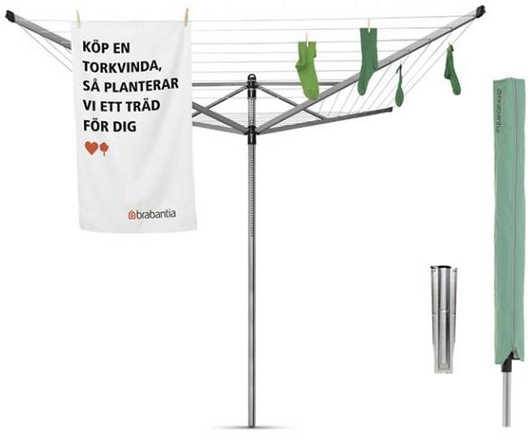 Фото - Уличная сушилка для белья Brabantia Lift-O-Matic 311048 сушилка для белья brabantia уличная lift o matic 50 м