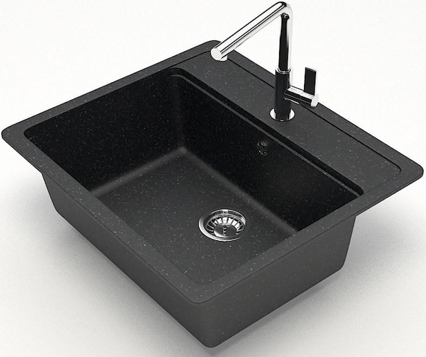 Кухонная мойка Zett Lab Модель 9 черный матовый T009Q004 кухонная мойка zett lab модель 9 57x50 5 t009q002 бежевая