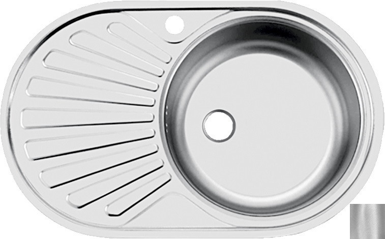 цена на Кухонная мойка матовая сталь Ukinox Фаворит FAD760.470 --T6K 1R